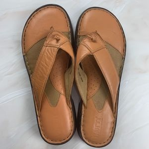 BORN Leather Sandals Size 8 39 peach tan